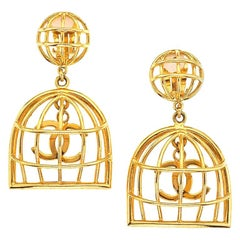 Chanel Birdcage Earrings