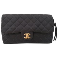 Chanel Black 2.55 textile Backpack