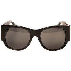 Chanel Black 5202 Q Leather Side Mirror Sunglasses
