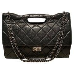 Chanel Black Aged Calfskin Take Away Flap Bag