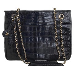 Chanel Black Alligator Handbag