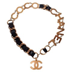 Chanel Black and Gold Vintage Necklace