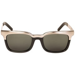 Chanel Black and Sliver Sunglasses
