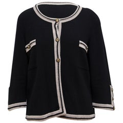 Chanel Black and Taupe Cardigan