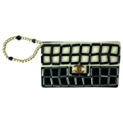 CHANEL Black And White Bag Brooch
