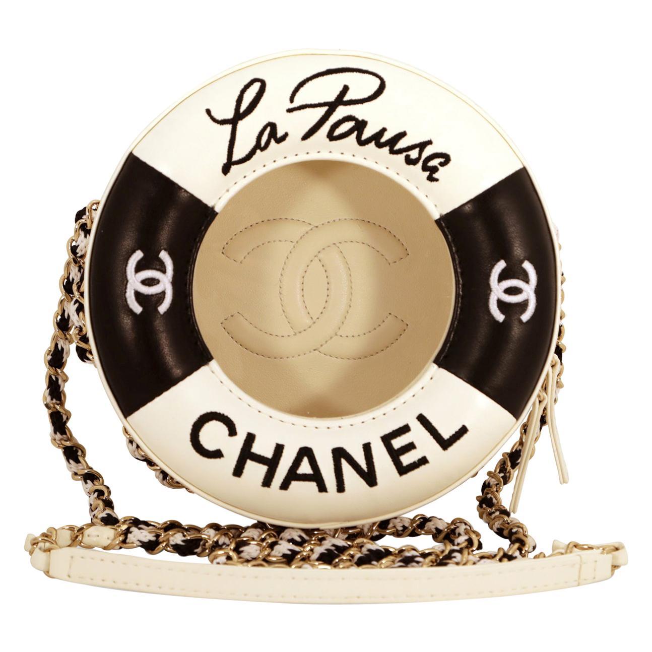 Chanel Black and White La Pausa Life Preserver Bag