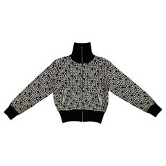 Chanel Black and White Logo Zipped Turtleneck 2018  Coco logo