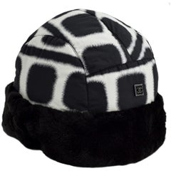 CHANEL Black And White Reversible Hat