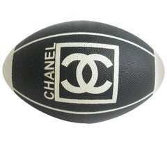 Chanel Black And White Rugby Ball