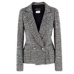 Chanel Black and White Tweed Jacket - Size US 0-2