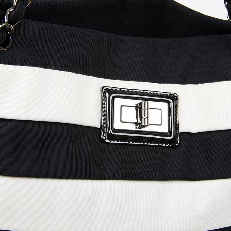 Chanel Black and White Two-Tone bag For Sale 6