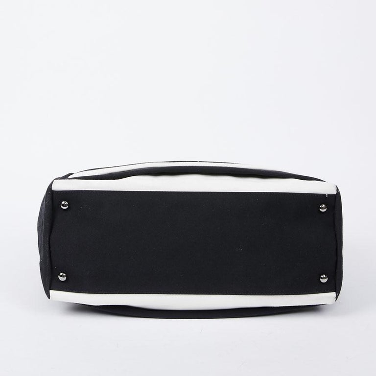 Women's Chanel Black and White Two-Tone bag For Sale