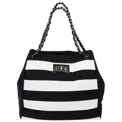 Chanel Black and White Two-Tone bag