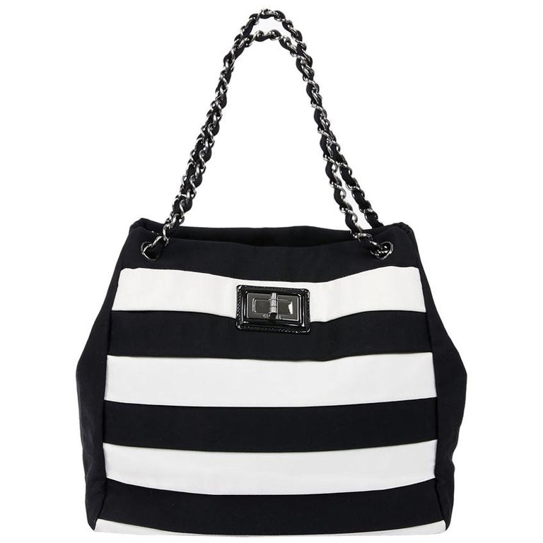 Chanel Black and White Two-Tone bag For Sale