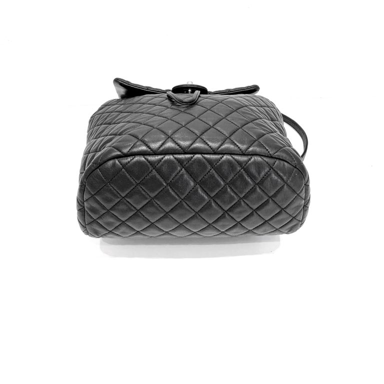 Chanel Black Backpack Quilted Lambskin Large,2016  For Sale 1