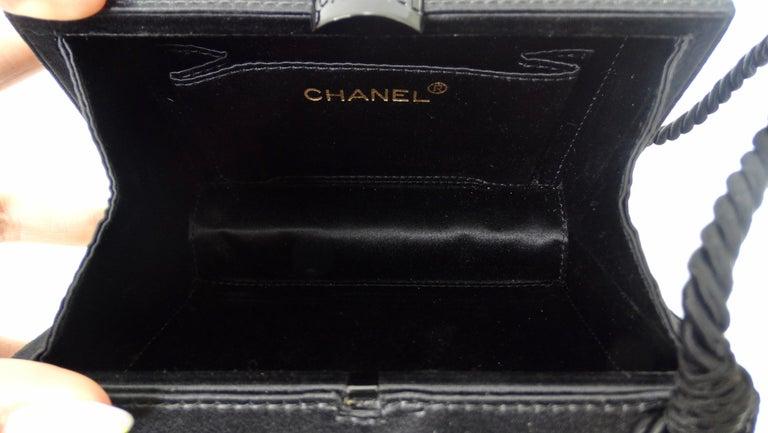 Chanel Black Beaded Evening Bag  For Sale 4