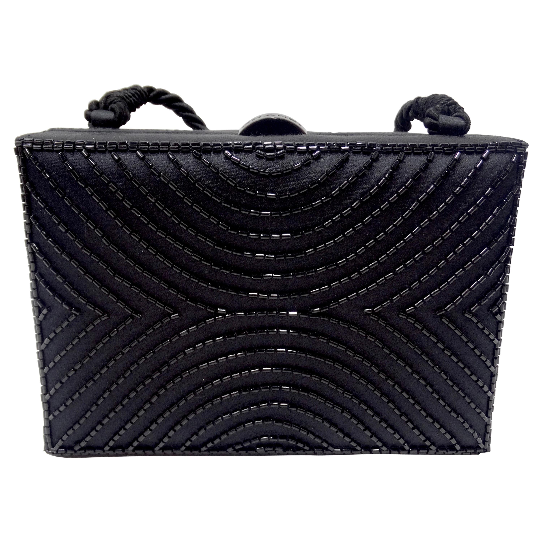 Chanel Black Beaded Evening Bag