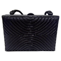 Chanel Black Beaded Evening Bag