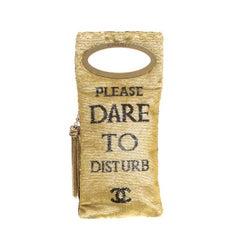 Chanel Black/Beige Sequin Please Dare To Disturb Clutch