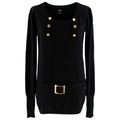 Chanel black belted cashmere Jumper - Size XS