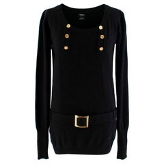 Chanel black belted cashmere Jumper XS 8