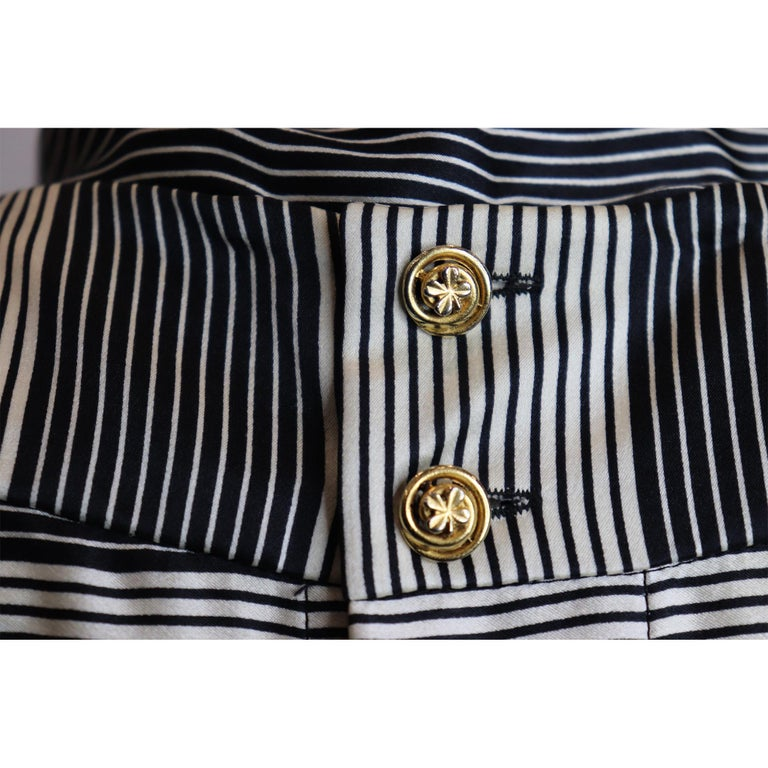 Chanel Black Boucle w/ Stripes and Gold Accents Skirt Suit (5PC) Circa 1990s For Sale 5