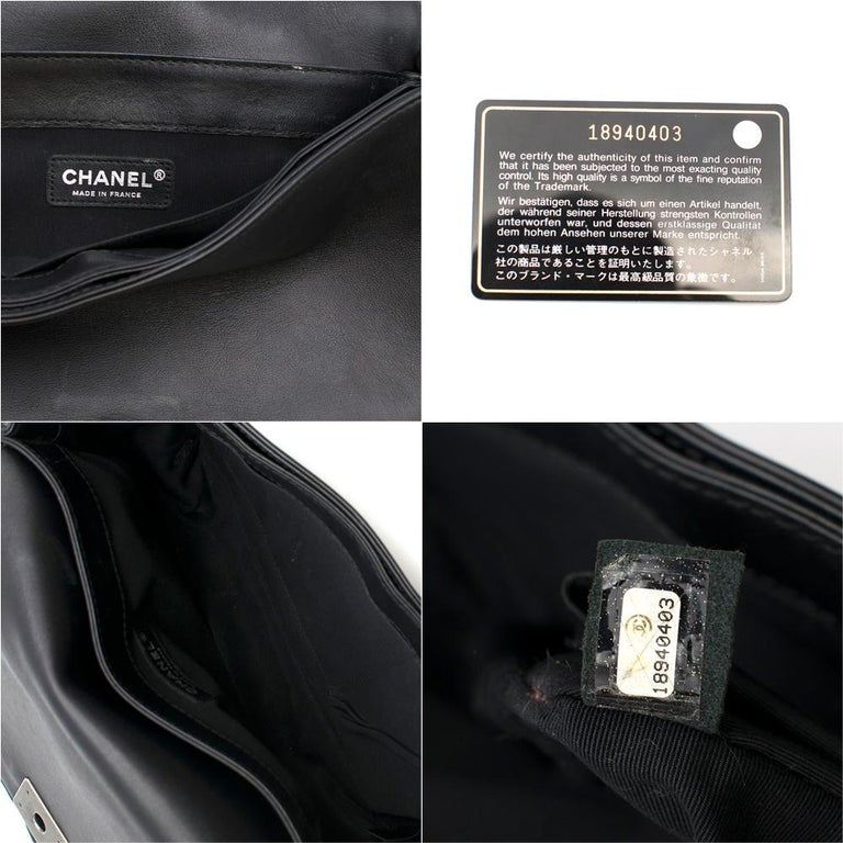 Chanel Black Boy Enchained Flap Bag 28cm For Sale 2