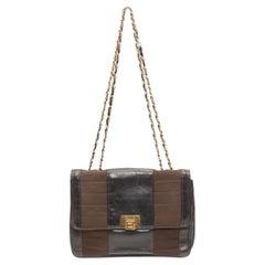 Chanel Black & Brown 50s/60s Handbag
