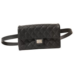 Chanel Black Calfskin 2.55 Reissue Uniform Waist Bag