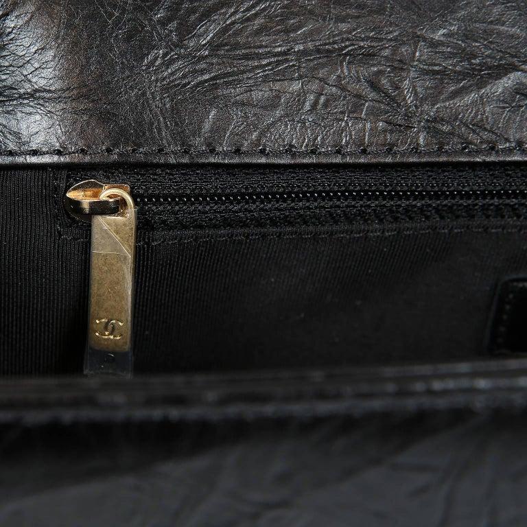Chanel Black Calfskin Braided Jacket Large Boy Bag For Sale 7