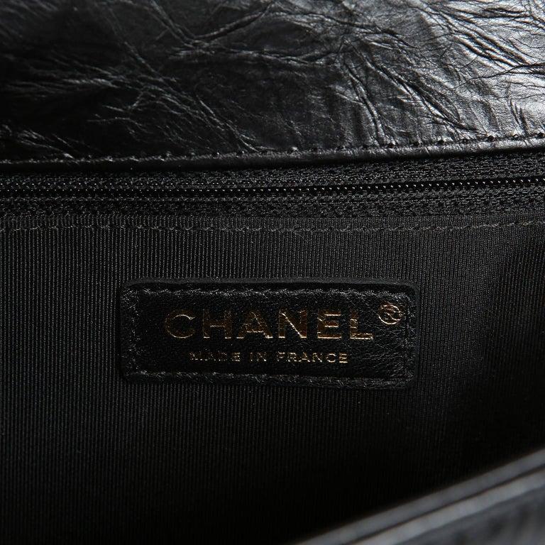 Chanel Black Calfskin Braided Jacket Large Boy Bag For Sale 8