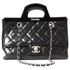 Chanel Black Calfskin CC Delivery Tote