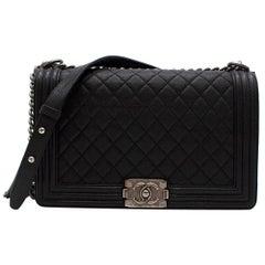 Chanel Black Calfskin Large Boy Bag