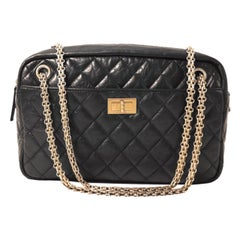 Chanel Black Calfskin Reissue 2.55 Camera Bag