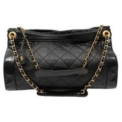 Chanel Black Calfskin Shopper Tote