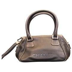 Chanel Black Calfskin Tassel Handbag