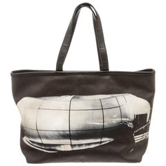 Chanel Black Canvas Karl Lagerfeld Le Mobile Art Tote Bag