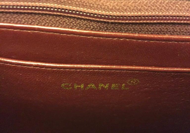 Chanel black canvas/leather shoulder bag  For Sale 5