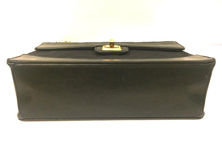 Chanel black canvas/leather shoulder bag  For Sale 3