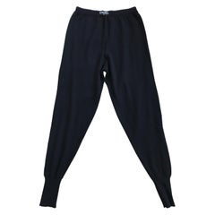 Chanel Black Cashmere Knit Lounge Pants