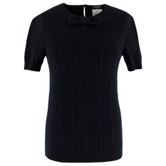 Chanel Black Cashmere & Silk Knitted Jumper 34