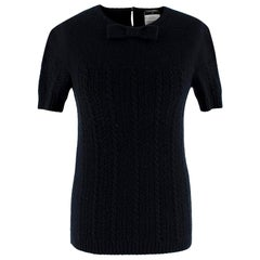 Chanel Black Cashmere & Silk Knitted Jumper- Size US 4