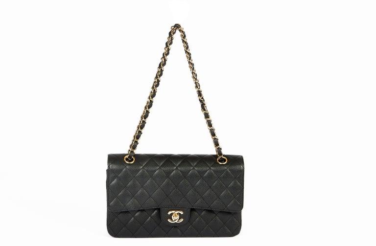 Women's Chanel Black Caviar 10