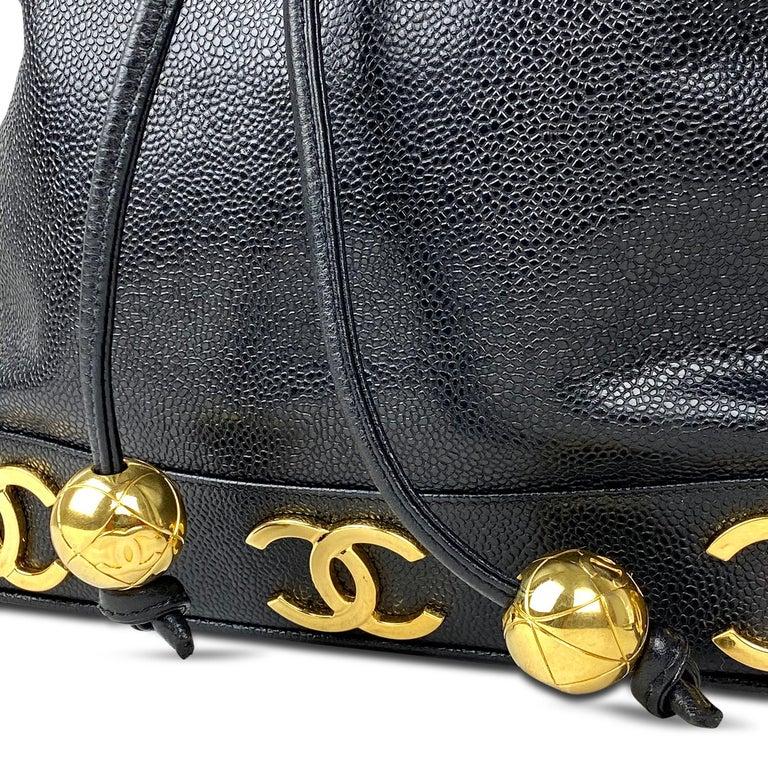 Chanel Black Caviar Bucket Bag 2