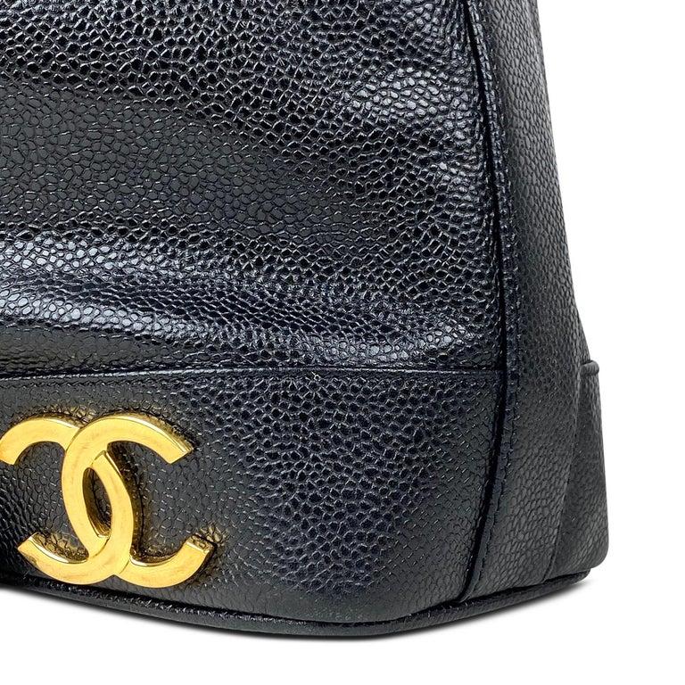 Chanel Black Caviar Bucket Bag 4