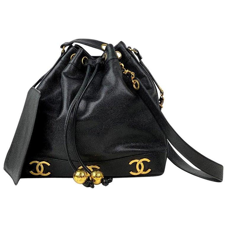 Chanel Black Caviar Bucket Bag