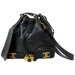Chanel Black Caviar Bucket Bag