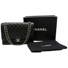 Chanel Black Caviar Calfskin Maxi Flap Bag