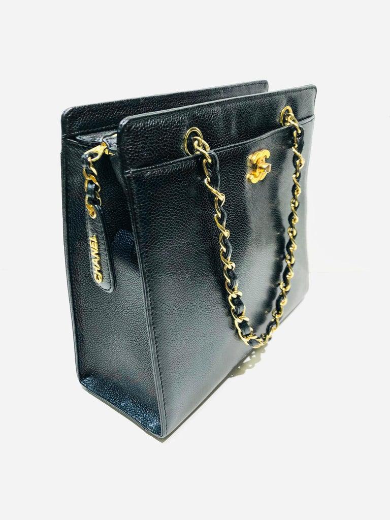 - Vintage Chanel black caviar