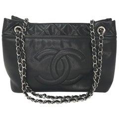 Chanel Black Caviar CC Timeless Grand Shopping Tote